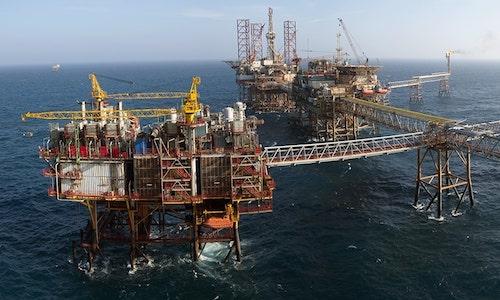Giàn khoan dầu khí của Việt Nam. Ảnh: PVN.