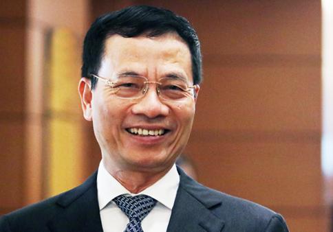 Tân Bộ trưởng Thông tin Truyền thông Nguyễn Mạnh Hùng. Ảnh:Võ Hải.