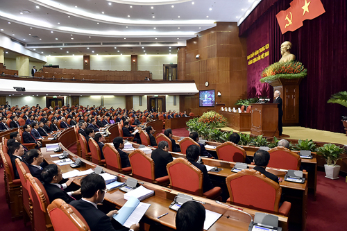 Hội nghị Trung ương 8, khoá XIIdiễn ra tại Hà Nội từ ngày 2 đến 6/10 đã thống nhất cao ban hành quy định về trách nhiệm nêu gương. Ảnh: Nhật Bắc/VGP.