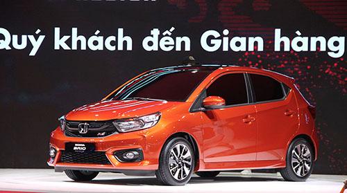 Honda Brio lần đầu xuất hiện tại triển lãm ôtô Việt Nam 2018 đang diễn ra tại TP HCM.