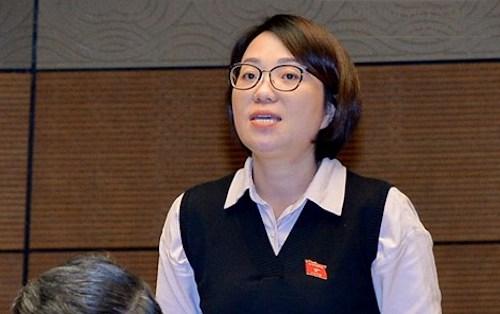 Đại biểu Phạm Thị Minh Hiền. Ảnh: QH