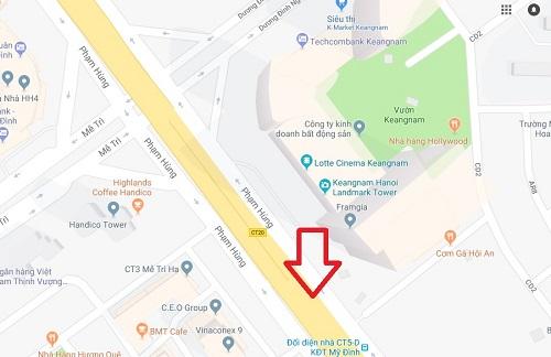 Vụ việc xảy ra trên đường vành đai 3 đoạn qua tòa nhà Keangnam.