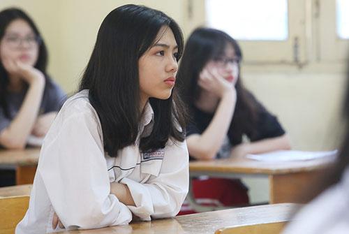 Học sinh Hà Nội dự thi vào lớp 10 năm học 2018-2019. Ảnh: Ngọc Thành