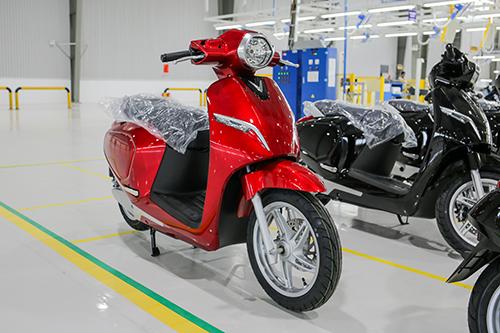 VinFast Klara A02 chờ xuất xưởng tại nhà máy ở Hải Phòng.