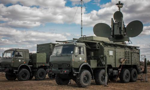 Hệ thống tác chiến điện tử Krasukha-4 của Nga. Ảnh: TASS.