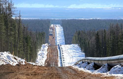 Đường ống dẫn khí thuộc dự án Power of Siberia nối từ trung tâm sản xuất khí đốt Irkutsk và Yakutia tới miền bắc Trung Quốc. Ảnh: Gazprom.