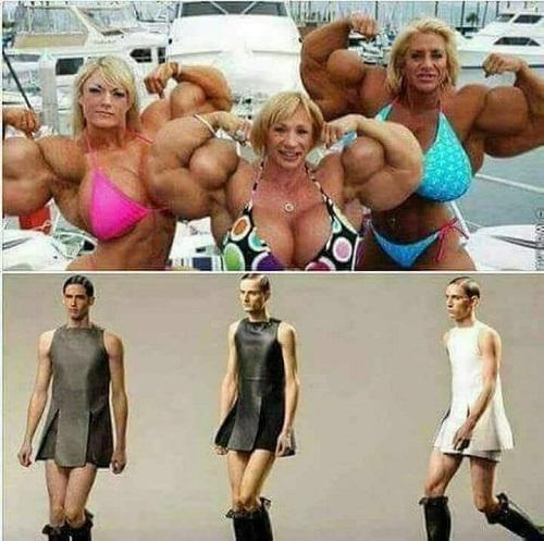 Phụ nữ và đàn ông thời hiện đại.