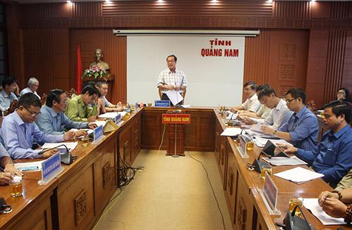 Tỉnh Quảng Nam đối với đối thoại Công ty cổ phần Thủy điện Đăk Di 4. Ảnh: Đắc Thành.
