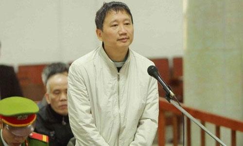 Bị cáo Trịnh Xuân Thanh nói lời sau cùng tại tòa hôm 3/2. Ảnh: TTXVN