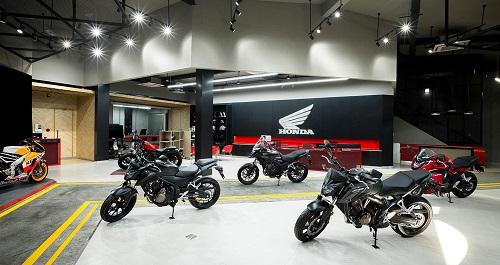 Không gian trưng bày Honda Moto Shop chính hãng đầu tiên tại Việt Nam.