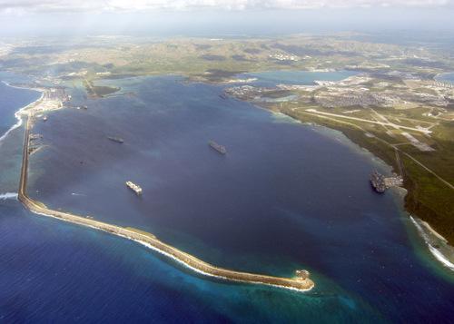 Căn cứ hải quân Guam nhìn từ trên cao. Ảnh: Wikipedia.