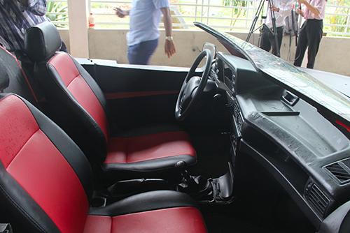 Nội thất bên trong của chiếc xe. Ảnh: Đức Hùng