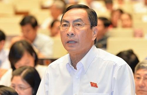 Đại biểu Phạm Văn Hoà phát biểu tại Quốc hội. Ảnh: Trung tâm thông tin Quốc hội