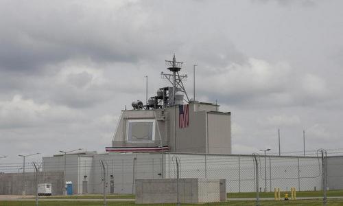 Đài điều khiển lá chắn tên lửa Aegis Ashore của Mỹ đặt tại Romania. Ảnh: Reuters.