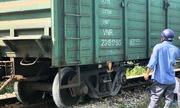 Đường sắt Bắc - Nam tê liệt 6 giờ do tàu hàng trật bánh