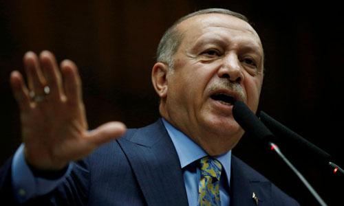 Tổng thống Thổ Nhĩ Kỳ Recep Tayyip Erdogan phát biểu tại thủ đô Ankara hôm 23/10. Ảnh: Reuters.