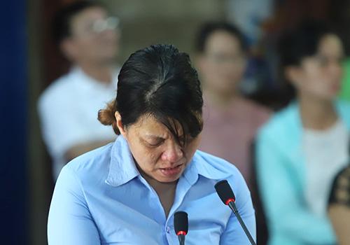 Bị cáo Hồng tại toà. Ảnh: Nguyễn Đông.