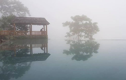 Sương mù ở vùng cao của tỉnh Thanh Hóa. Ảnh: Lê Hoàng