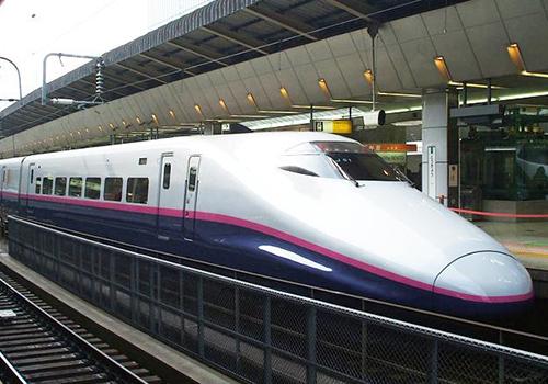 Tuyến đường sắt tốc độ cao ở Nhật. Ảnh minh hoạ