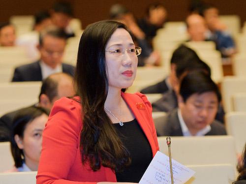 Bà Nguyễn Thị Thuỷ - Uỷ viên thường trực Uỷ ban Tư pháp. Ảnh: Trung tâm thông tin Quốc hội