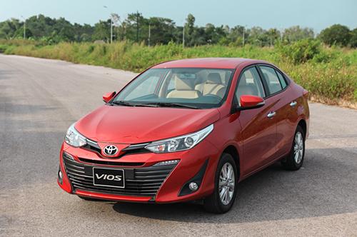 Toyota Vios mới trong trải nghiệm tại Hà Nội. Đây là dòng xe có doanh số tốt nhất thị trường trong tháng 10. Ảnh: Đức Huy.