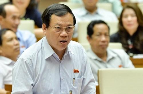Ông Vũ Trọng Kim phát biểu tại Quốc hội. Ảnh: Trung tâm thông tin Quốc hội
