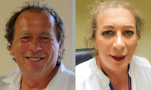 Celine Audebeau trước và sau khi phẫu thuật chuyển giới tại Thái Lan. Ảnh: NVCC.
