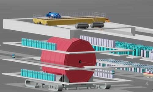 Một trong hai thiết kế của máy gia tốc hạt CEPC. Ảnh: Global Times.