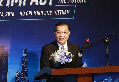 Bộ trưởng Chu Ngọc Anh phát biểu tại sự kiện. Ảnh: MC.