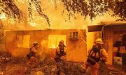 Người đàn ông Mỹ chiến đấu với cháy rừng để cứu mẹ già 90 tuổi