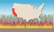 Sức tàn phá của ba đám cháy rừng tại bang California