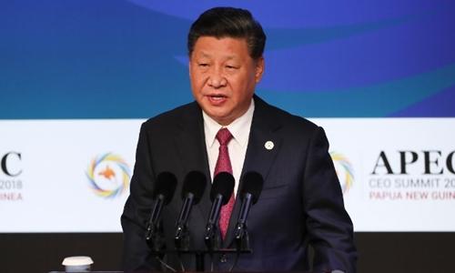 Chủ tịch Trung Quốc Tập Cận Bình tại APEC ngày 17/11. Ảnh: AFP.
