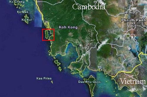 Cảng Koh Kong ở khu vực đông nam Campuchia. Đồ họa: Latitudes.