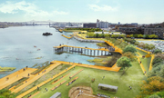 """Thành phố Mỹ xây công viên """"hút nước"""" chống ngập lụt"""