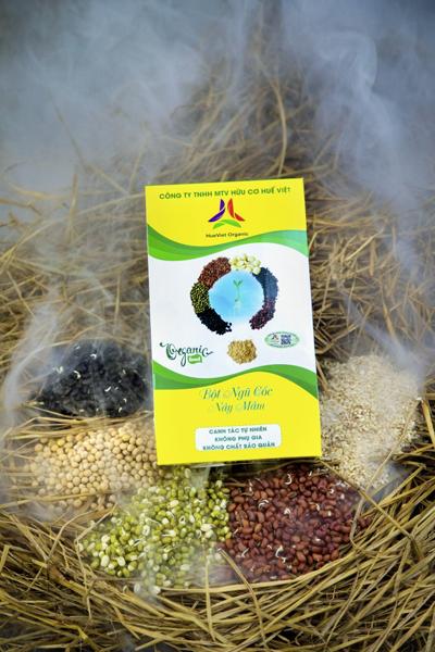 Bột ngũ cốc làm từ các loại hạt nảy mầm. Ảnh: NVCC.