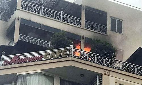 Hiện trường vụ cháy. Ảnh: Hoàng Nhật