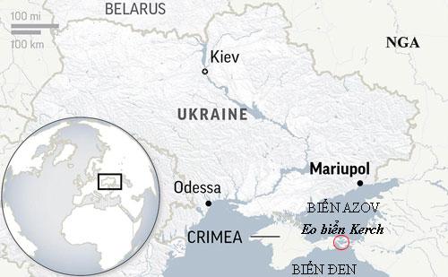 Căng thẳng khiến Nga bắt tàu chiến Ukraine trên Biển Đen