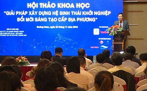 Thứ trưởng Trần Văn Tùng phát biểu tại hội thảo. Ảnh: Bùi Hiếu.