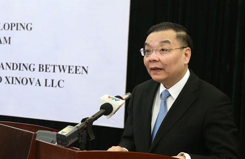 Bộ trưởng Chu Ngọc Anh phát biểu tại lễ ký kết. Ảnh: MH.