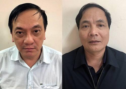Bị can Trần Lục Lang và Kiều Đình Hòa. Ảnh: Bộ Công an