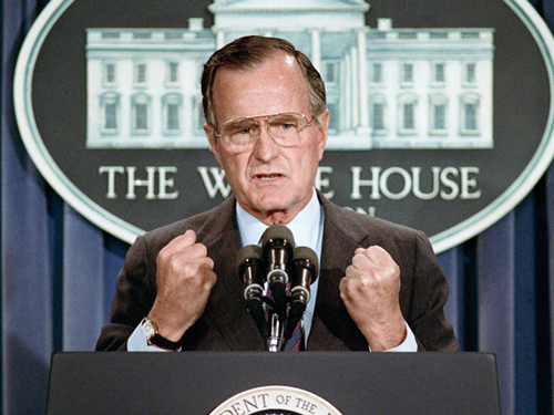 Cựu tổng thống Mỹ George H.W. Bush. Ảnh: AP.