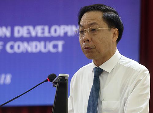 Ông Trần Ngọc Liêm, phó tổng Thanh Tra Chính phủ phát biểu trong Hội thảo sáng 3/12. Ảnh: Bá Đô