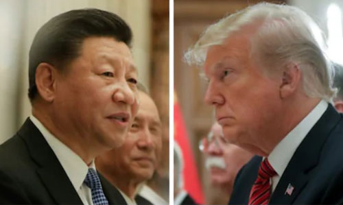 Chủ tịch Trung Quốc Tập Cận Bình (trái) và Tổng thống Mỹ Donald Trump khi gặp nhau tại Hội nghị G20 ở Argentina hôm 1/12. Ảnh: Telegraph.