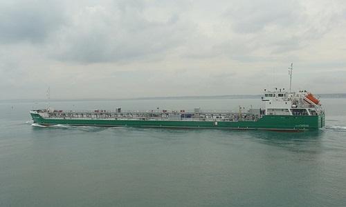 Tàu chở dầu Mekhanik Pogodin của Nga. Ảnh: Tass.