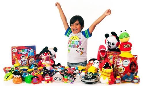 Kênh đánh giá đồ chơi của Ryan, 7 tuổi. Ảnh: YouTube.