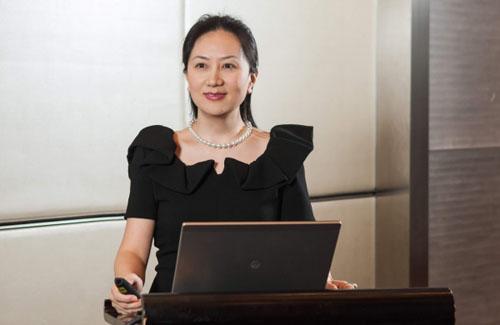 Mạnh Vãn Chu, giám đốc tài chính kiêm phó chủ tịch hội đồng quản trị tập đoàn Huawei. Ảnh: Twitter.