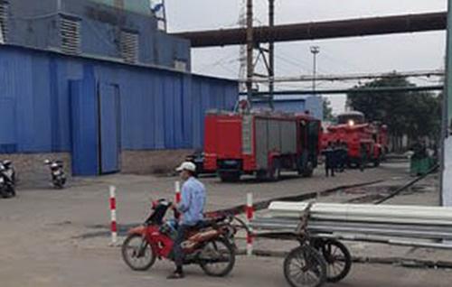 Khu vực xảy ra vụ nổ ở Nhà máy thép Dragon. Ảnh: P.V