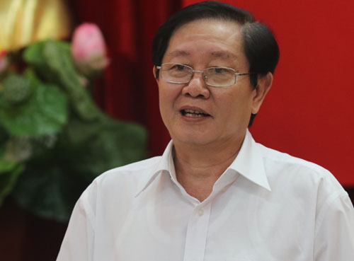 Bộ trưởng Nội vụ Lê Vĩnh Tân. Ảnh: Võ Hải