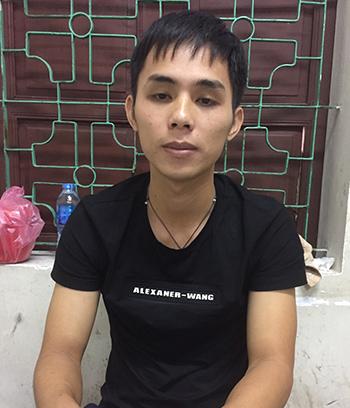Nguyễn Đình Phương tại cơ quan công an. Ảnh: Hải Bình.