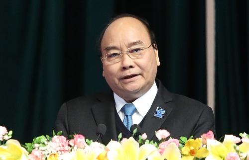 Thủ tướng Nguyễn Xuân Phúc phát biểu tại đại hội. Ảnh: D.T
